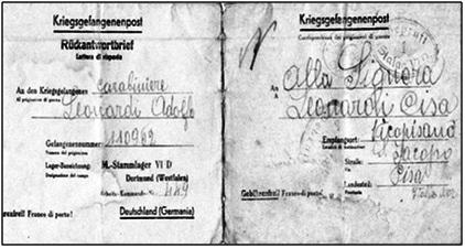 Adolfo leonardi cartolina