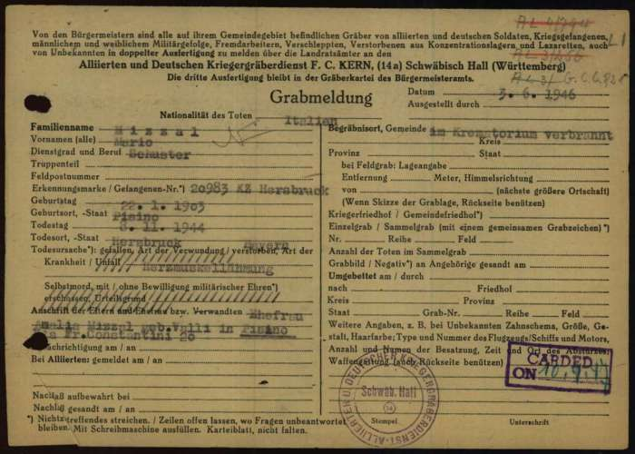 Documento registrazione Flossenburg 2