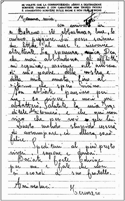 lettera terenzio baldovin