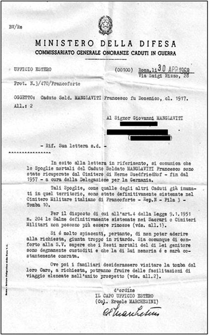 manglaviti francesco risp. min. dif.