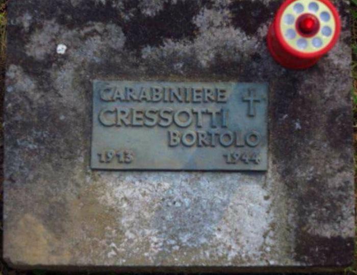 La tomba di Bortolo Cressotti a Francoforte sul Meno