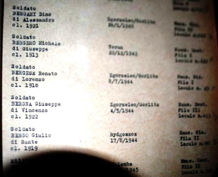 registro sepolture